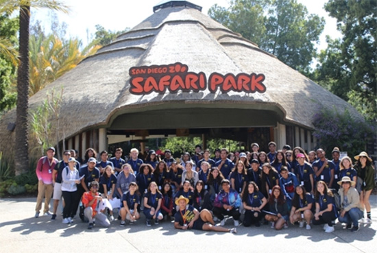 Students outside Safari Park